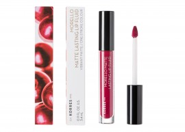 Korres Morello Matte Lasting Lip Fluid 74 Fix 3.4ml