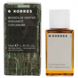 KORRES EAU DE TOILETTE MOUNTAIN PEPPER,BERGAMOT,CORIANDER 50ml