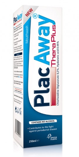 OMEGA PHARMA Plac Away Thera Plus Στοματικό Διάλυμα 250ml