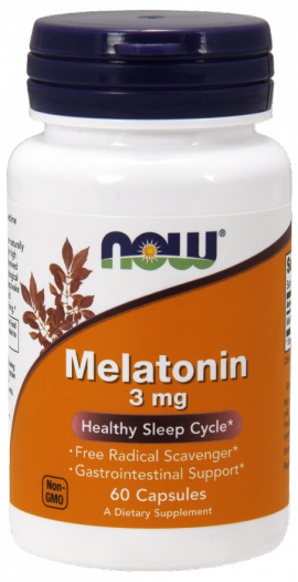 Now Foods Melatonin 3mg 60 caps