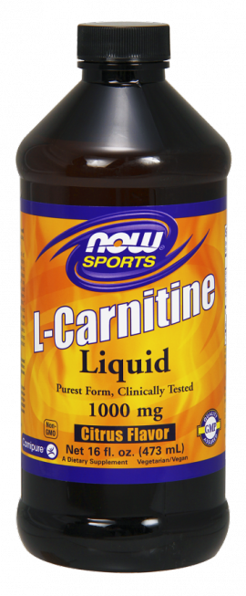 Now Foods L-Carnitine Liquid Citrus Flavor 1000 mg- 16fl. oz. (473)ml