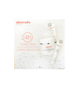 Skincode Set Perfect Triple 24H Cell Energizer Cream 50ml + Δώρο Firming Εye Ζone Gel 20ml + Essentials 24H Intensive Moisturizing Lip Balm 10ml