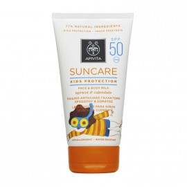 Apivita Suncare Kids Protection Face & Body Milk Spf50 με βερύκοκο & καλέντουλα 150ml