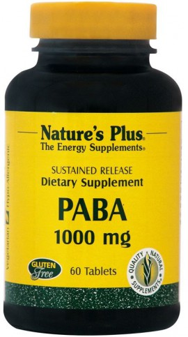 Natures Plus PABA 1000mg 60tabs
