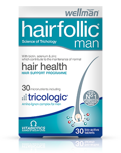 VITABIOTICS WELLMAN HAIRFOLLIC (TRICOLOGIC) MAN 60 TABS