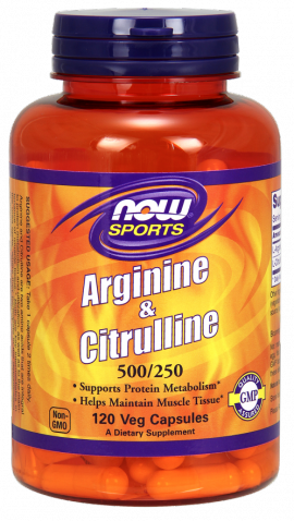 Now Foods Arginine & Citrulline 500/250mg 120 Veget.caps