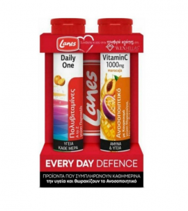 Lanes Set Every Day Defense Daily One 20 eff tabs & Vitamin C 1000mg Maracuja 20 eff tabs