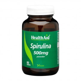 HEALTH AID SPIRULINA 500MG TABLETS 60S
