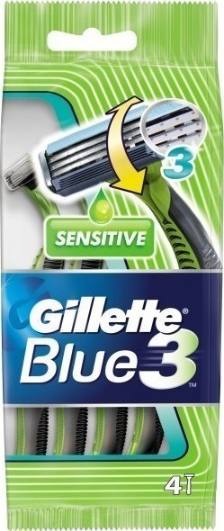 Gillette Blue 3 Sensitive 4τμχ