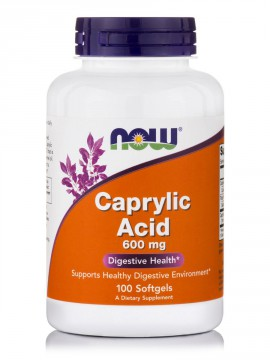 Now Foods Caprylic Acid 600mg 100 Softgels.