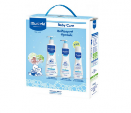 Mustela Baby Care Promo Gentle Cleansing Gel 500ml + Mustela Hydra Bebe Latte Corpo 300ml + Mustela Multi-Sensory Bubble Bath 200ml
