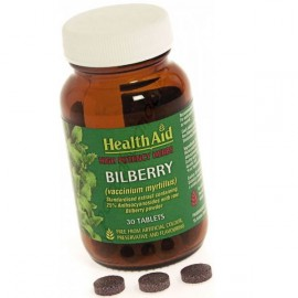 HEALTH AID BILBERRY BERRY EXTRACT TABLETS 30S