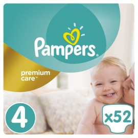 Pampers Premium Care Νο.4 (9-14 Kg) 52 Πάνες