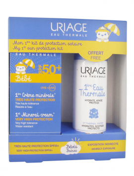 Uriage Bebe 1st Mineral Cream SPF50+ 50ml + Uriage Bebe 1st Thermal Water 50ml