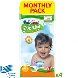 BABYLINO SENSITIVE Monthly Pack No5+ (13-27Kg) 168τεμ