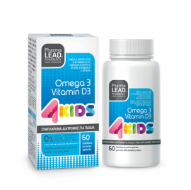 PharmaLead 4Kids Omega 3 + Vitamin D3 60τμχ
