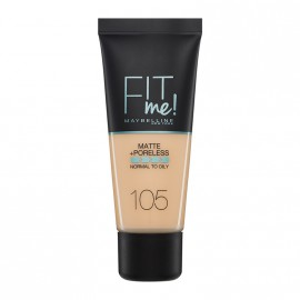 Maybelline Fit Me Matte & Poreless Liquid Foundation For Normal To Oily Skin 105 Natural Ivory 30ml