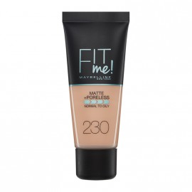 Maybelline Fit Me Matte & Poreless Liquid Foundation For Normal To Oily Skin 230 Natural Buff 30ml