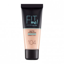 Maybelline Fit Me Matte & Poreless Liquid Foundation For Normal To Oily Skin 104 Soft Ivory 30ml