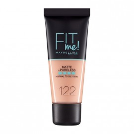 Maybelline Fit Me Matte & Poreless Liquid Foundation For Normal To Oily Skin 122 Creamy Beige 30ml