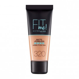 Maybelline Fit Me Matte & Poreless Liquid Foundation For Normal To Oily Skin 320 Natural Tan 30ml