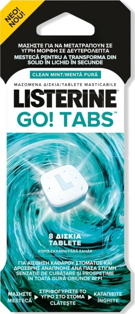 Listerine Go Tabs Για Δροσερή και Καθαρή Αναπνοή 8tbs