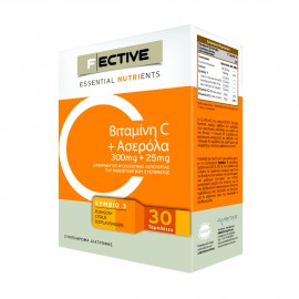 Fective Essential Nutrients Vitamin C 300mg + Acerola 25mg 30tabs