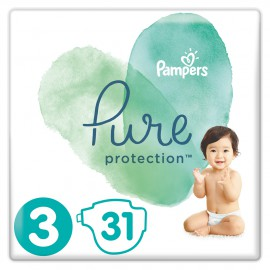 Pampers Pure Protection No.3 (6-10kg) 31 Πάνες