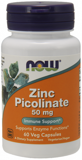 Now Foods Zinc Picolinate 50mg 60 caps
