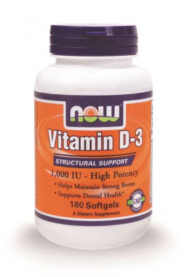 Now Foods Vitamin D3 1.000 IU 180 Softgels