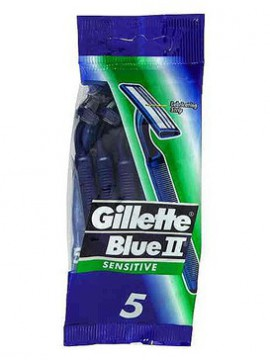 GILLETTE Blue II Plus Sensitive Skin 5τμχ