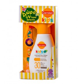 Carroten Set Kids Suncare Milk Spray Spf30 200ml + Δώρο UV Band Βραχιόλι 1τμχ