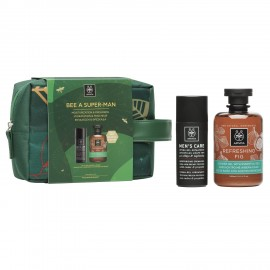 Apivita Set Bee A Super-Man Moisturizing Cream-Gel with Cedar & Propolis 50ml + Refreshing Fig Shower 300ml