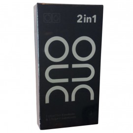 DUO 2 in 1 Ultra Thin Condoms & Natural Lubricants 3τμχ