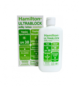 Hamilton Ultrablock SPF30 Body Sunscreen Milky Lotion 120ml
