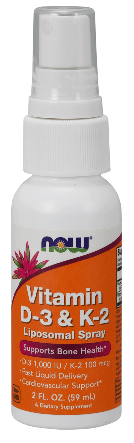 Now Foods Vitamin D-3 & K-2 Liposomal Spray 59ml