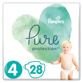 Pampers Pure Protection No.4 (9-14kg) 28 Πάνες