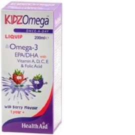 HEALTH AID KIDZ OMEGA -LIQUID -WILDBERRY 200ML