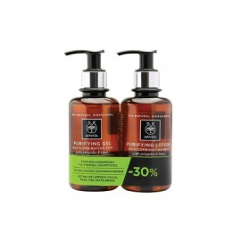 Apivita Set Purifying Lotion Τονωτική Λοσιόν with Propolis & Lime 200ml + Purifying Gel with Propolis & Lime 200ml -30%
