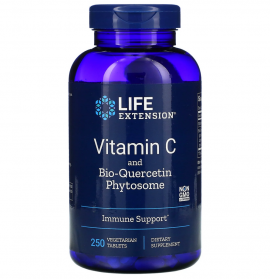 Life Extension Vitamin C and Bio-Quercetin Phytosome 250 Veg.Tab.
