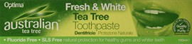 OPTIMA Australian Organic Tea Tree Fresh & White Toothpaste 100ml