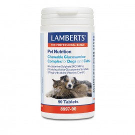 Lamberts Pet Nutrition Chewable Glucosamine Complex for Cats & Dogs 90tabs