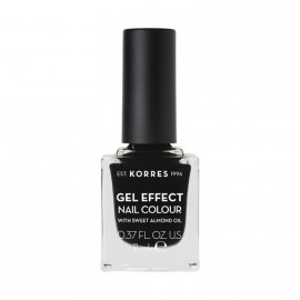 Korres Βερνίκι Νυχιών Gel Effect Nail Colour No100 Black 11ml