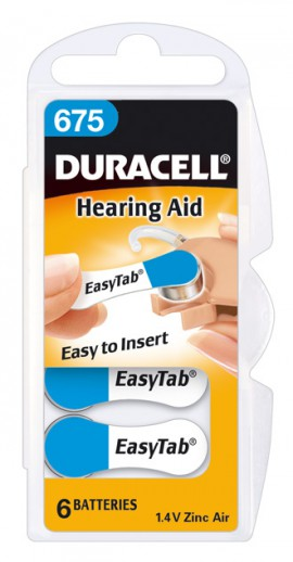 Duracell Hearing Aid Battery With Easytab 675 6τμχ
