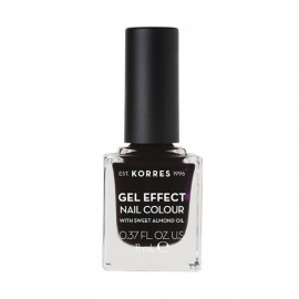 Korres Βερνίκι Νυχιών Gel Effect Nail Colour No76 Smokey Plum 11ml