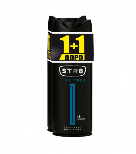 STR8 Deo Spray Live True 150ml 1+1 Δώρο