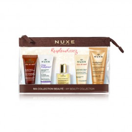 Nuxe Travel Kit Nuxe Reve de Miel Cleansing and Make-Up Removing Facial Gel 15ml + Nuxe Creme Prodigieuse 15ml + Nuxe Huile Prodigieuse Multi-Purpose Dry Oil 10ml + Nuxe Reve de Miel Hand and Nail Cream 15ml + Nuxe Prodigieux Shower Oil 30ml