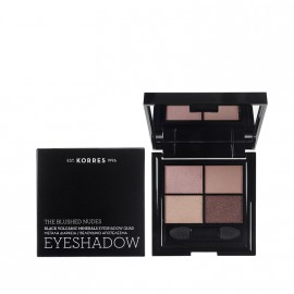 Korres Black Volcanic Minerals Eyeshadow Quad  - The Blushed Nudes 5g