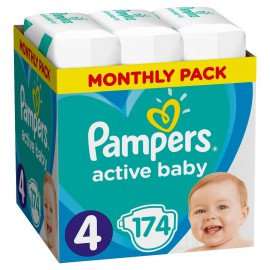 Pampers Active Baby No.4 (9-14Kg) 174τμχ