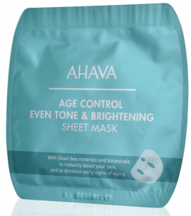Ahava Age Control Even Tone & Brightening Sheet Mask 17g